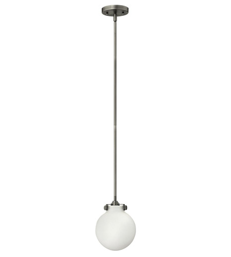 Hinkley 3133AN-GU24 Congress 1 Light 7 inch Antique Nickel Mini-Pendant Ceiling Light in GU24, Etched Opal Glass photo