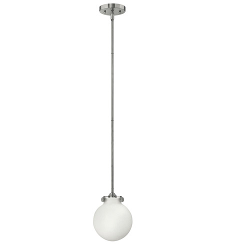 Hinkley 3133CM-LED Congress 1 Light 7 inch Chrome Mini-Pendant Ceiling Light in LED, Etched Opal Glass photo