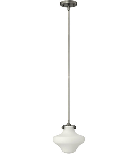 Hinkley Lighting Congress 1 Light Mini-Pendant in Antique Nickel 3134AN