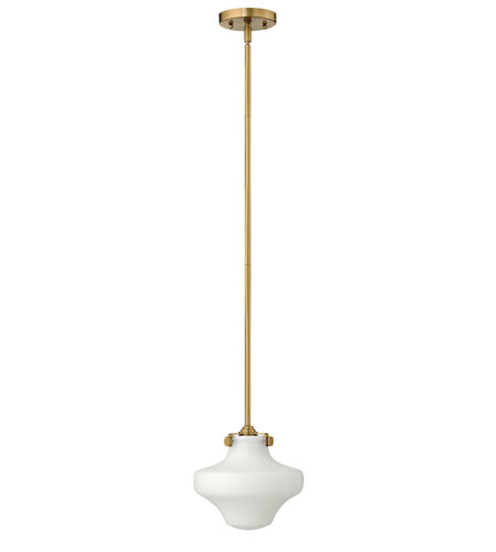 Hinkley 3134BC Congress 1 Light 9 inch Brushed Caramel Mini-Pendant Ceiling Light in Incandescent photo
