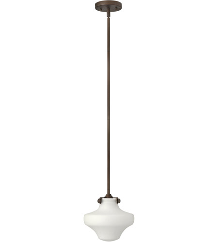Hinkley 3134OZ Congress 1 Light 9 inch Oil Rubbed Bronze Mini-Pendant Ceiling Light in Incandescent photo