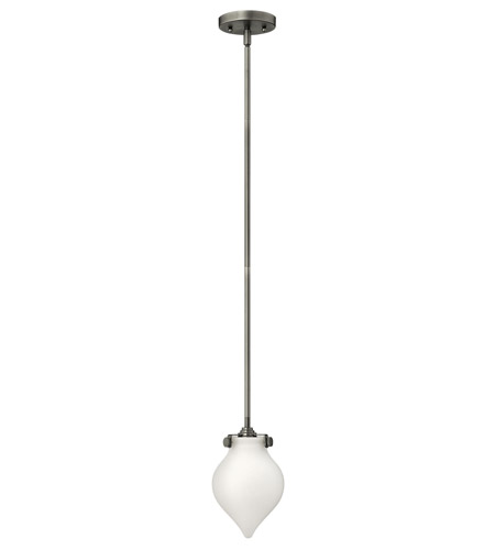 Hinkley 3135AN-LED Congress 1 Light 6 inch Antique Nickel Mini-Pendant Ceiling Light in LED, Etched Opal Glass photo