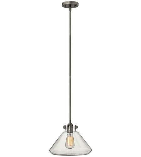 Hinkley Lighting Congress 1 Light Mini-Pendant in Antique Nickel 3137AN photo