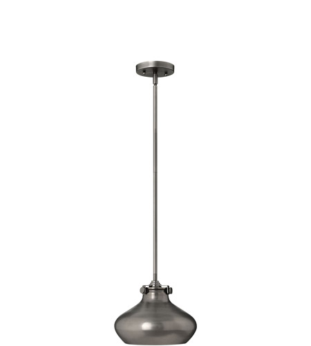 Hinkley Lighting Congress 1 Light Mini-Pendant in Antique Nickel 3138AN