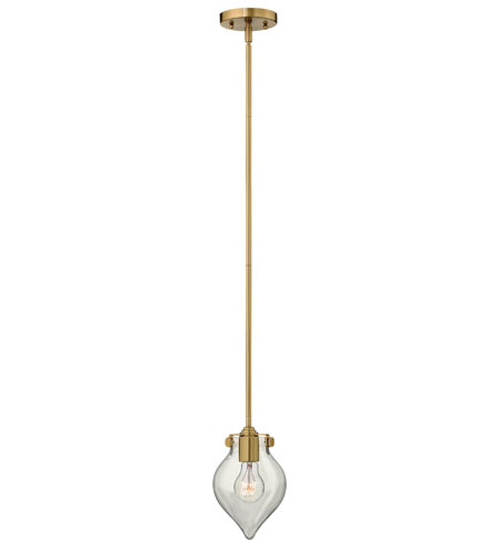 Hinkley 3139BC Congress 1 Light 6 inch Brushed Caramel Mini-Pendant Ceiling Light, Retro Glass photo