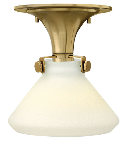 Hinkley Lighting Congress 1 Light Flush Mount in Brushed Caramel 3140BC