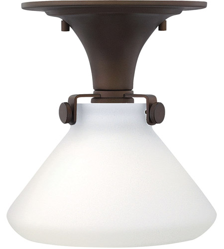 Hinkley 3140OZ Congress 1 Light 8 inch Oil Rubbed Bronze Foyer Flush Mount Ceiling Light in Incandescent, Retro Glass photo