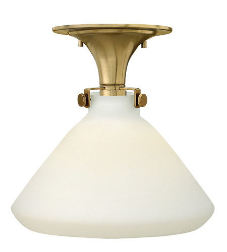 Hinkley 3141BC Congress 1 Light 12 inch Brushed Caramel Flush Mount Ceiling Light in Incandescent, Retro Glass photo