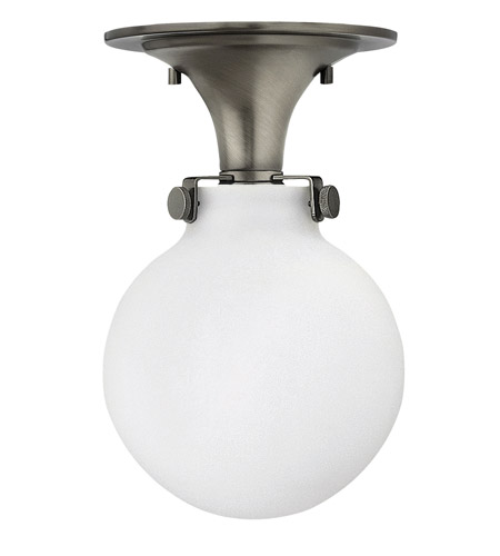 Hinkley 3143AN-GU24 Congress 1 Light 7 inch Antique Nickel Flush Mount Ceiling Light in GU24, Etched Opal Glass photo