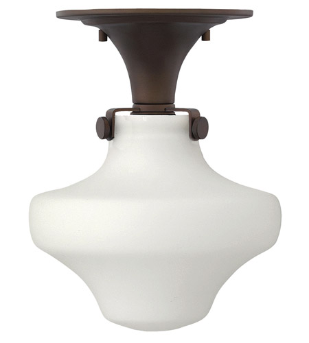 Hinkley 3144OZ-LED Congress 1 Light 9 inch Oil Rubbed Bronze Flush Mount Ceiling Light in LED, Etched Opal Glass photo