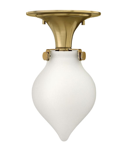 Hinkley 3145BC Congress 1 Light 6 inch Brushed Caramel Flush Mount Ceiling Light in Incandescent, Retro Glass photo