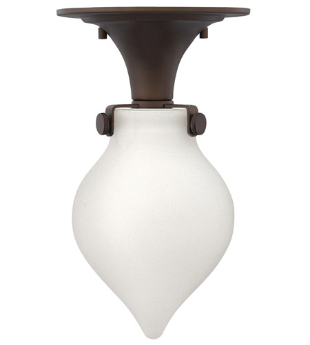 Hinkley 3145OZ Congress 1 Light 6 inch Oil Rubbed Bronze Flush Mount Ceiling Light in Incandescent, Retro Glass photo