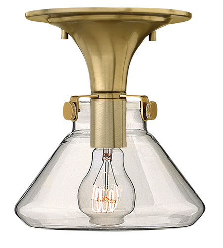 Hinkley Lighting Congress 1 Light Flush Mount in Brushed Caramel 3146BC