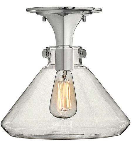 Hinkley Lighting Congress 1 Light Flush Mount in Chrome 3147CM