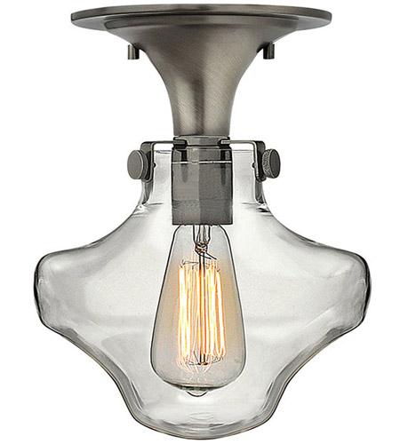 Hinkley Lighting Congress 1 Light Flush Mount in Antique Nickel 3150AN