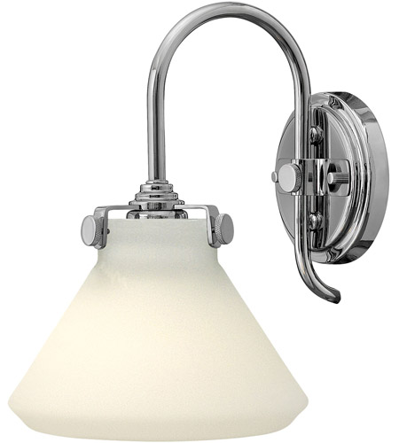 Hinkley 3170CM Congress 1 Light 8 inch Chrome Sconce Wall Light, Retro Glass photo