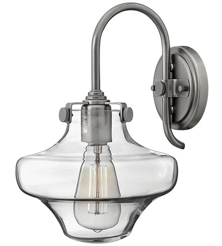 Hinkley 3171AN Congress 1 Light 9 inch Antique Nickel Sconce Wall Light, Retro Glass photo