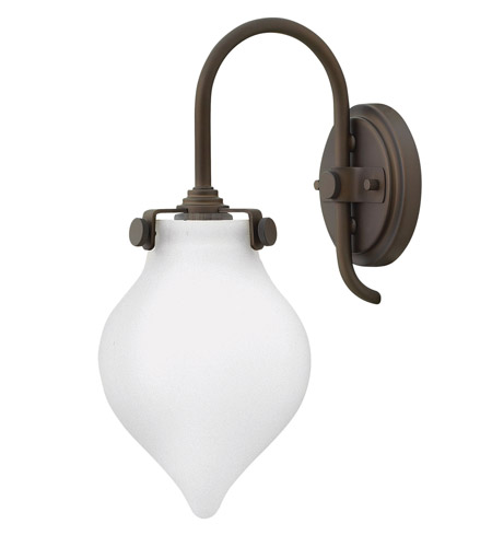 Hinkley 3172OZ Congress 1 Light 6 inch Oil Rubbed Bronze Sconce Wall Light, Retro Glass photo