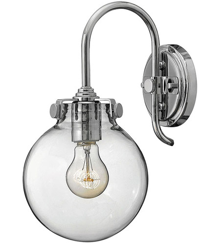 Hinkley 3174CM Congress 1 Light 7 inch Chrome Sconce Wall Light, Retro Glass photo