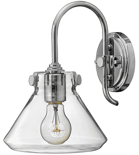 Hinkley 3176CM Congress 1 Light 8 inch Chrome Sconce Wall Light, Retro Glass photo