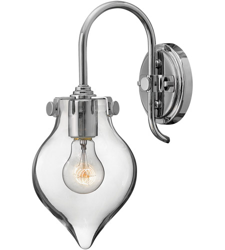 Hinkley 3177CM Congress 1 Light 6 inch Chrome Sconce Wall Light, Retro Glass photo
