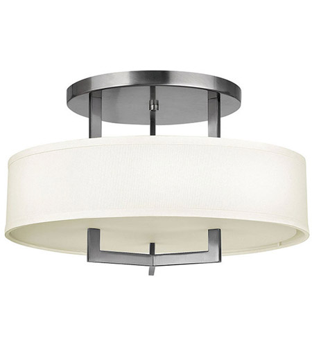 Hinkley Lighting Hampton 3 Light Foyer in Antique Nickel 3201AN-LED