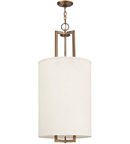 Hinkley Lighting Hampton 3 Light Hanging Foyer in Brushed Bronze 3205BR