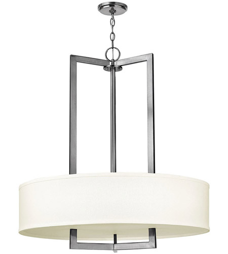 Hinkley Lighting Hampton 3 Light Chandelier in Antique Nickel 3206AN