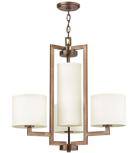 Hinkley Lighting Hampton 4 Light Chandelier in Brushed Bronze 3209BR photo