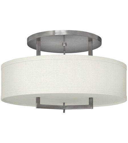 Hinkley Lighting Hampton 3 Light Foyer in Antique Nickel 3211AN-LED