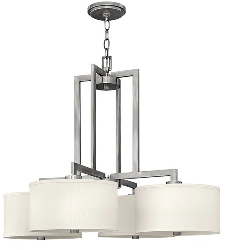 Hinkley Lighting Hampton 4 Light Hanging Foyer in Antique Nickel 3214AN