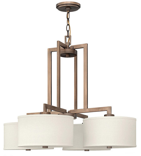 Hinkley Lighting Hampton 4 Light Hanging Foyer in Brushed Bronze 3214BR photo