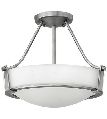 Hinkley Lighting Hathaway 2 Light Semi Flush in Antique Nickel 3220AN-LED