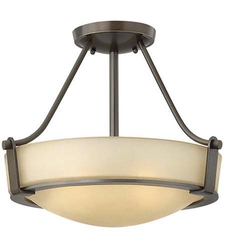 Hinkley Lighting Hathaway 2 Light Semi Flush in Olde Bronze 3220OB-LED