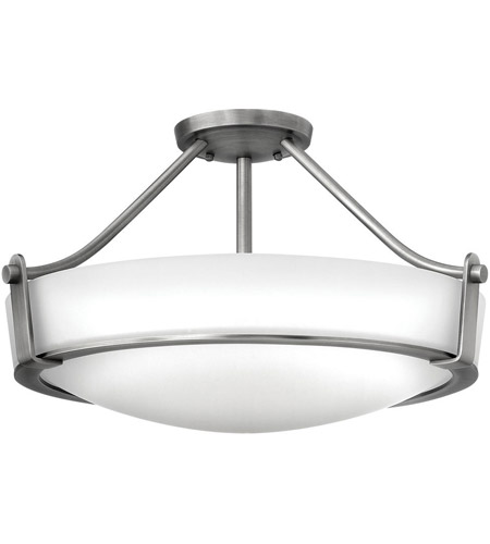 Hinkley 3221AN Hathaway 4 Light 21 inch Antique Nickel Semi Flush Ceiling Light in Etched, Incandescent photo