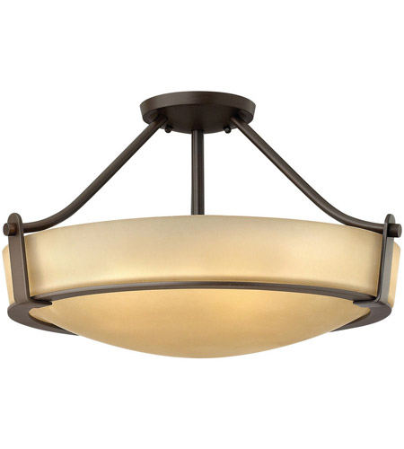 Hinkley 3221ob Hathaway 4 Light 21 Inch Olde Bronze Foyer Semi Flush Mount Ceiling