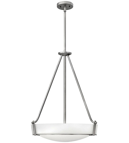 Hinkley Lighting Hathaway 3 Light Foyer in Antique Nickel 3222AN-LED photo