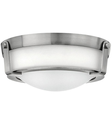 Hinkley 3223AN Hathaway 2 Light 13 inch Antique Nickel Flush Mount Ceiling Light in Etched, Incandescent photo