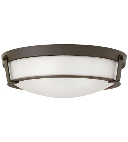 Hinkley 3226OB-WH-LED Hathaway LED 21 inch Olde Bronze Foyer Flush Mount Ceiling Light in Etched, Etched Glass photo