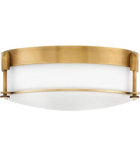 Hinkley 3233HB Colbin 3 Light 17 inch Heritage Brass Flush Mount Ceiling Light photo