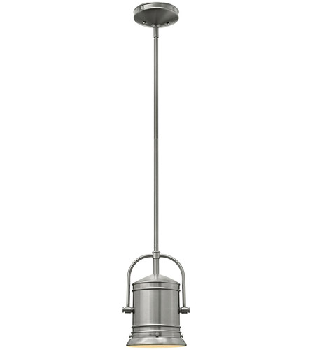 Hinkley Lighting Pullman 1 Light Mini-Pendant in Brushed Nickel 3254BN photo