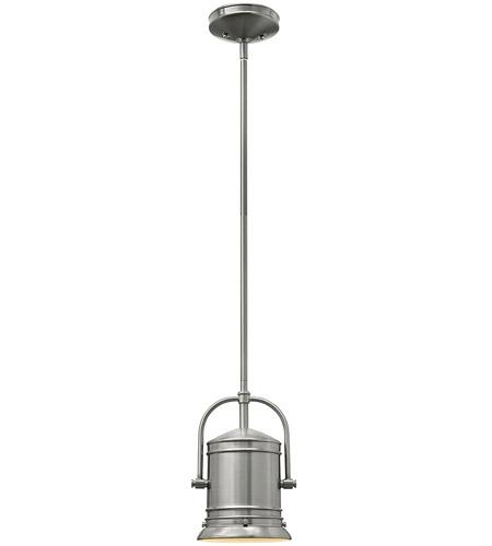 Hinkley Lighting Pullman 1 Light Mini-Pendant in Brushed Nickel 3254BN