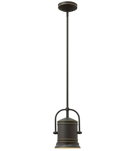 Hinkley 3254OZ Pullman 1 Light 7 inch Oil Rubbed Bronze Mini-Pendant Ceiling Light in Incandescent photo