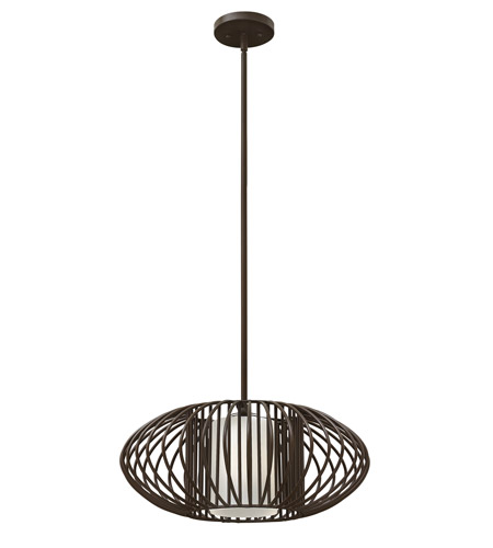 Hinkley 32557VBZ-GU24 Vibe 1 Light 19 inch Vintage Bronze Mini-Pendant Ceiling Light in GU24, Etched Opal Glass photo