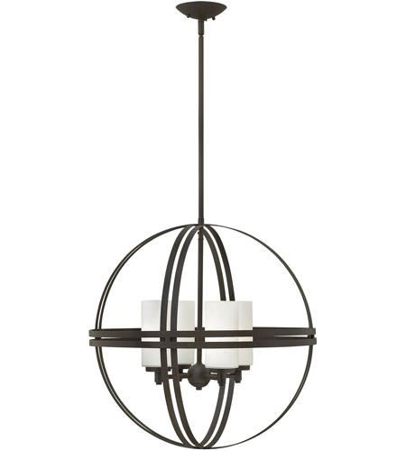 Hinkley Lighting Atrium 4 Light Chandelier in Bronze 3274BZ