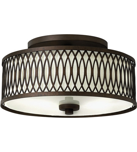 Hinkley 3291VZ Walden 3 Light 13 inch Victorian Bronze Foyer Semi-Flush Mount Ceiling Light photo