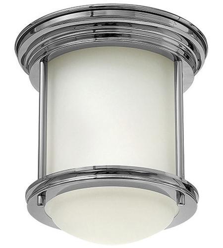 hinkley 3300cm hadley 1 light 8 inch chrome foyer flush mount