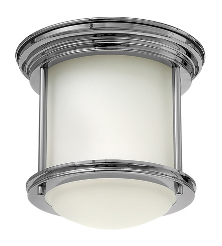 Palmera ceiling light chrome glass with opal frosted glass : Hinkley lighting hadley light flush mount in chrome with
