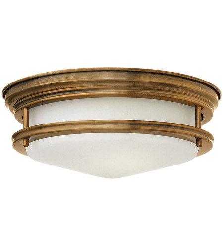 Hinkley 3302BR Hadley 2 Light 12 inch Brushed Bronze Flush Mount Ceiling Light in Incandescent, Etched Opal Glass photo