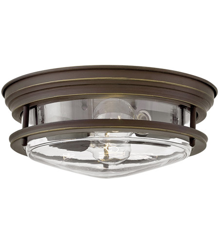 Hinkley 3302oz Cl Hadley 2 Light 12 Inch Oil Rubbed Bronze Foyer Flush Mount Ceiling In Incandescent Clear